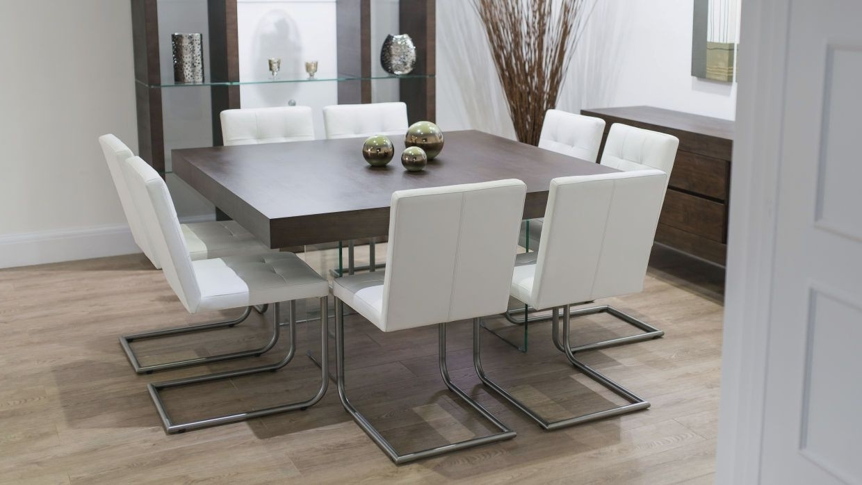 Most Current Dining Tables With 8 Seater Within Round Dining Room Table Set For 8 Awesome Glass Dining Table  (View 20 of 25)