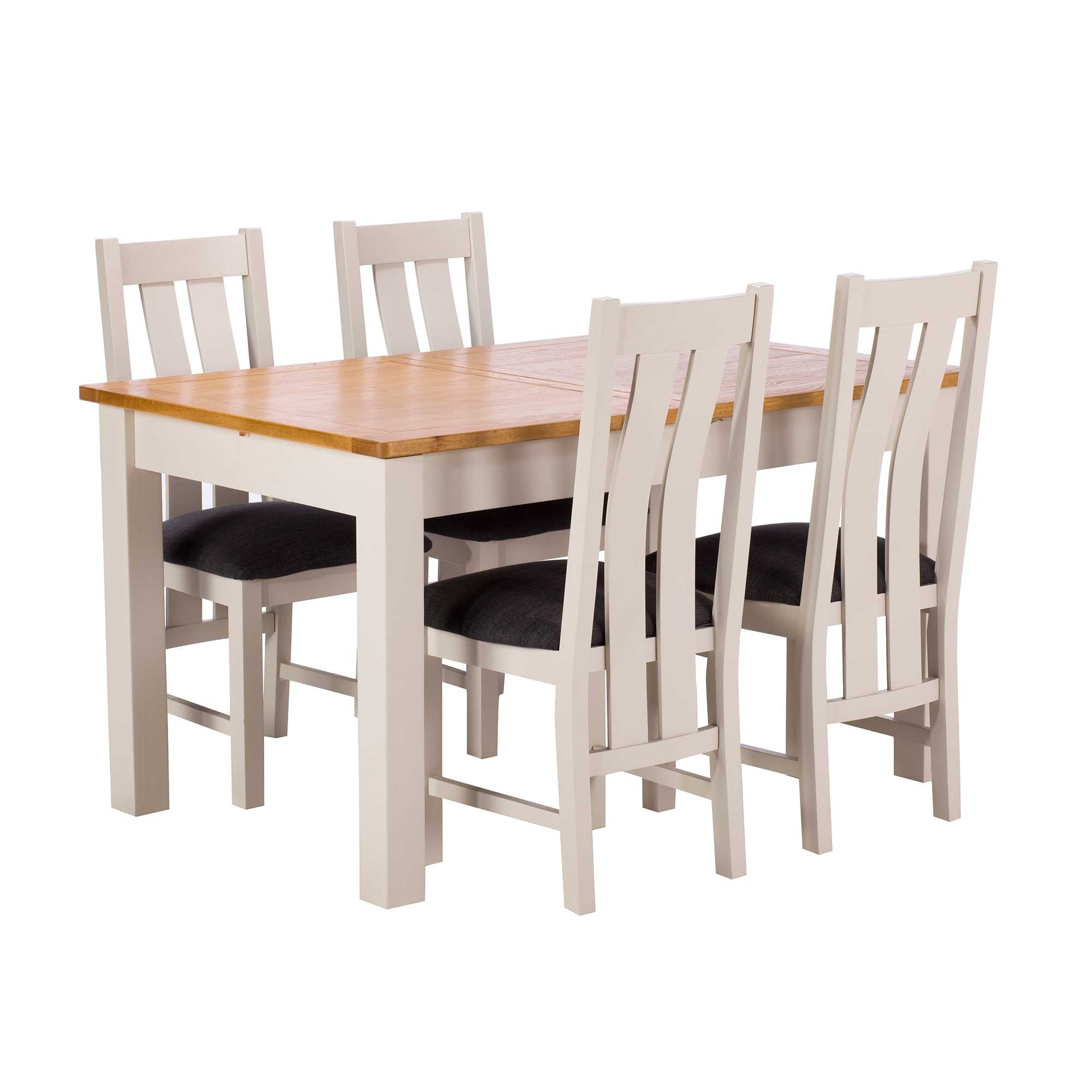 Most Current Extending Dining Sets Intended For Eskdale Extending Dining Table And 4 Chairs, Linen (View 24 of 25)