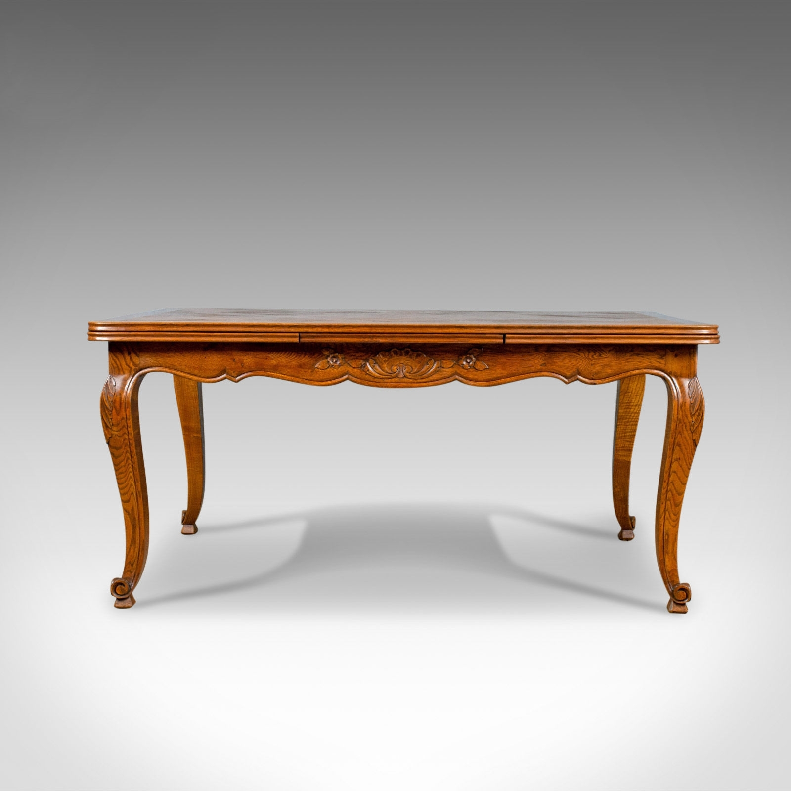 Most Current French Extending Dining Tables Regarding Antique Dining Table, French, Extending, Draw Leaf, Oak Parquet (View 25 of 25)