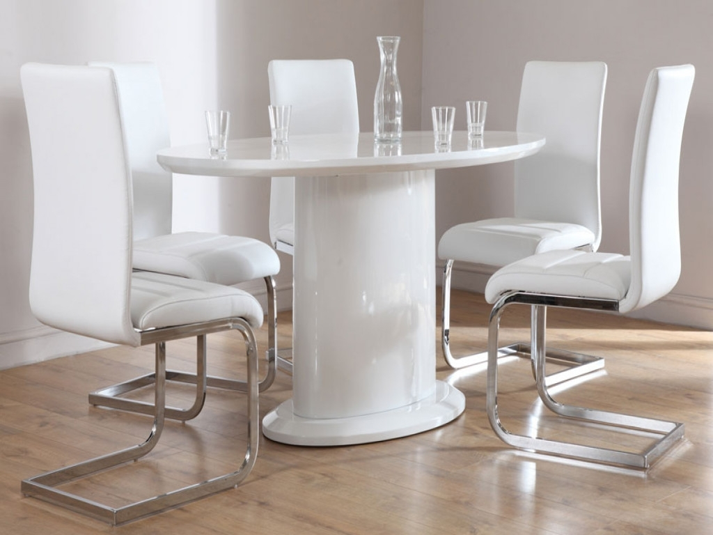 Most Current Furniture: White Dining Room Table And Chairs Elegant Monaco White With Regard To Perth White Dining Chairs (View 11 of 25)