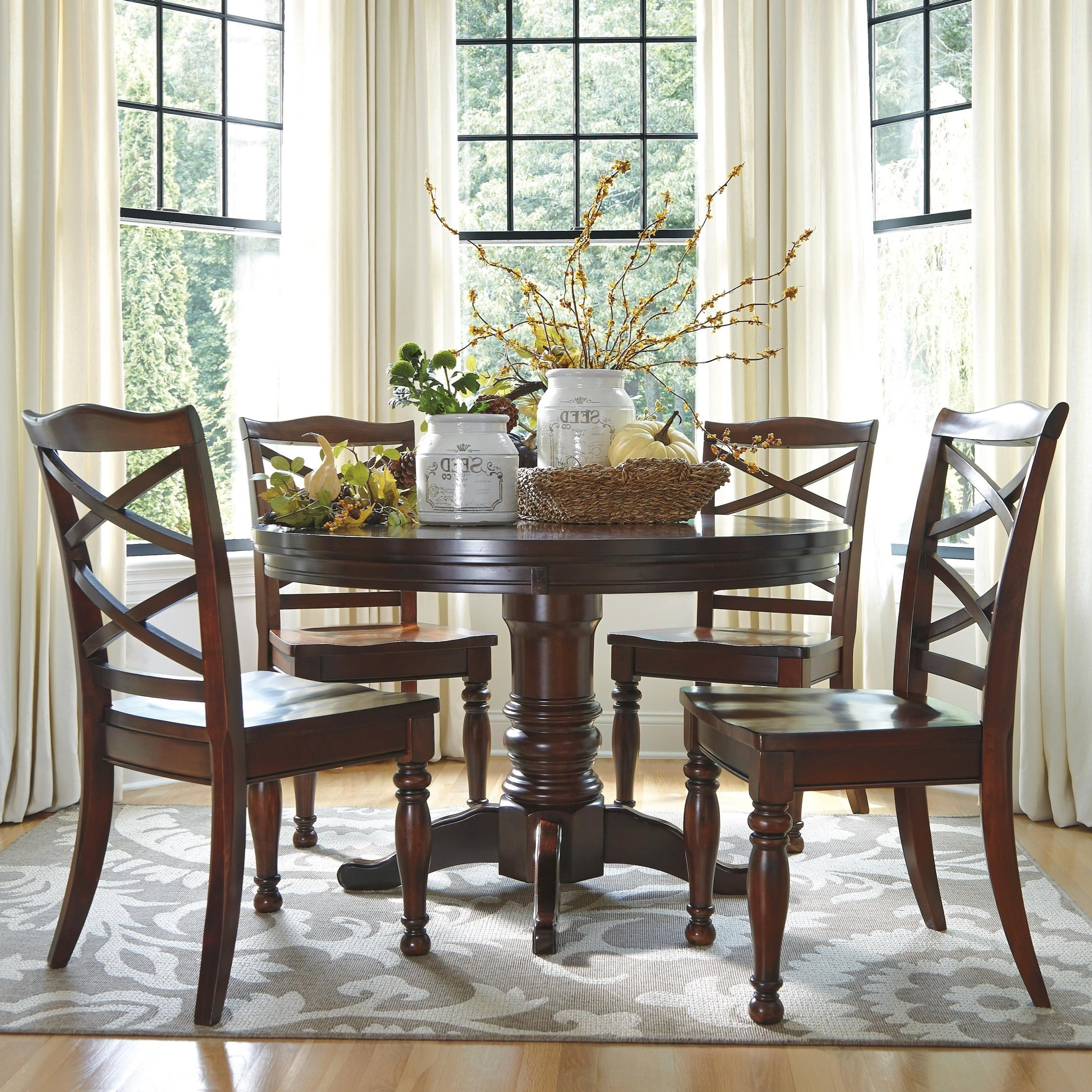 Most Current Great Round Dining Room Table In Ashley Furniture Porter 5 Piece Intended For Caden 5 Piece Round Dining Sets (View 15 of 25)