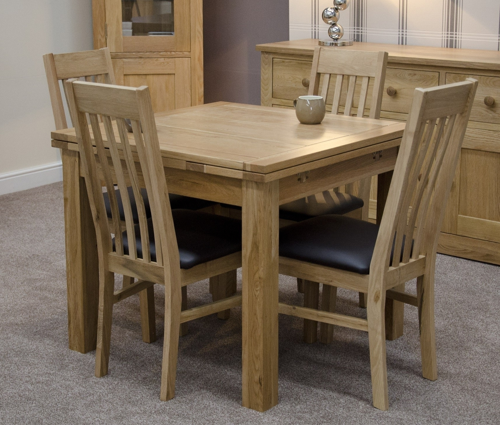 Most Current How Oak To Extendable Dining Table — The Home Redesign Within Extendable Oak Dining Tables And Chairs (View 10 of 25)