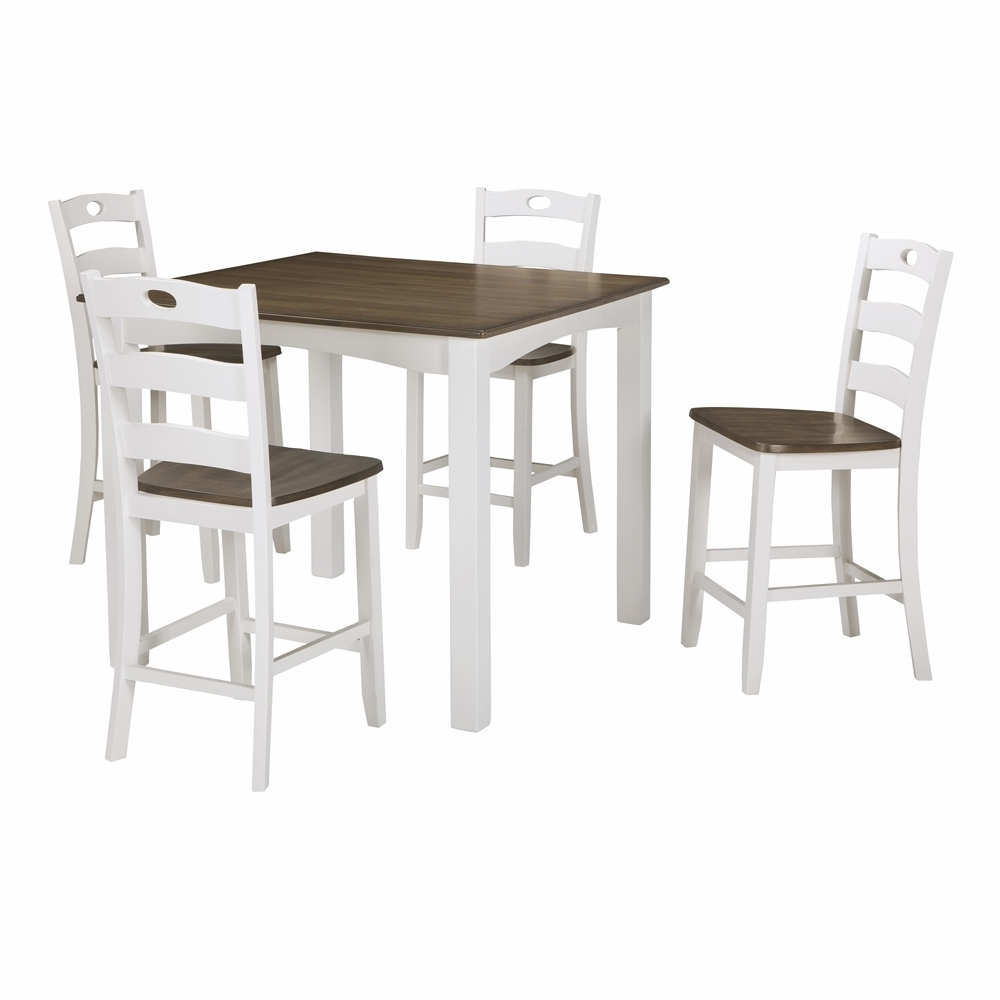 Most Current Hyland 5 Piece Counter Sets With Stools With Regard To Signature Designashley – Woodanville Square Counter Table Set (5 (Gallery 25 of 25)