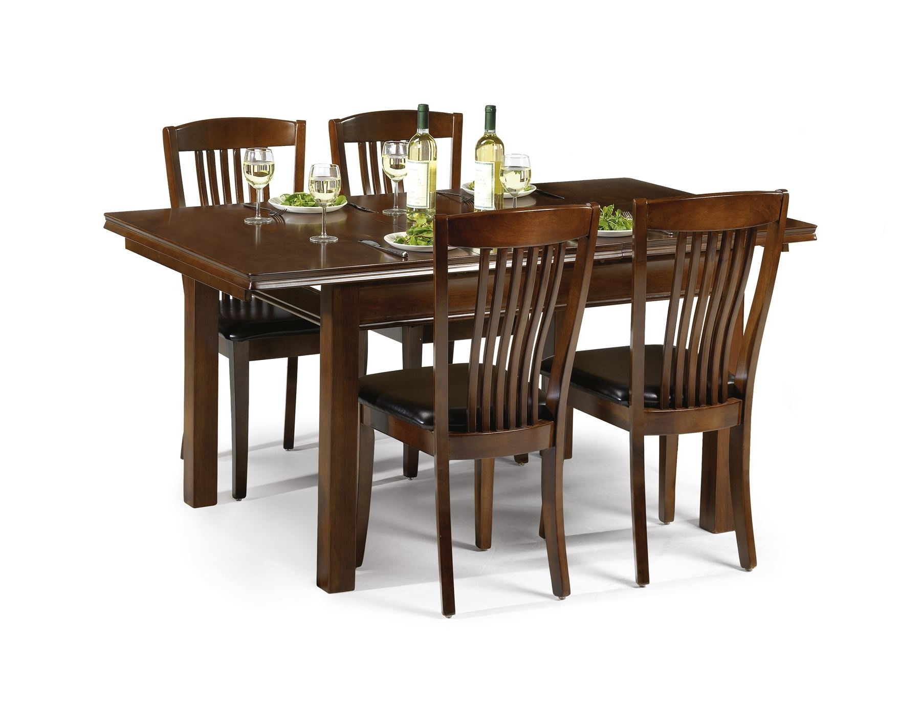 Most Current Julian Bowen Canterbury Solid Wood Mahogany Extending Dining Table 4 Inside Mahogany Dining Tables And 4 Chairs (Gallery 1 of 25)