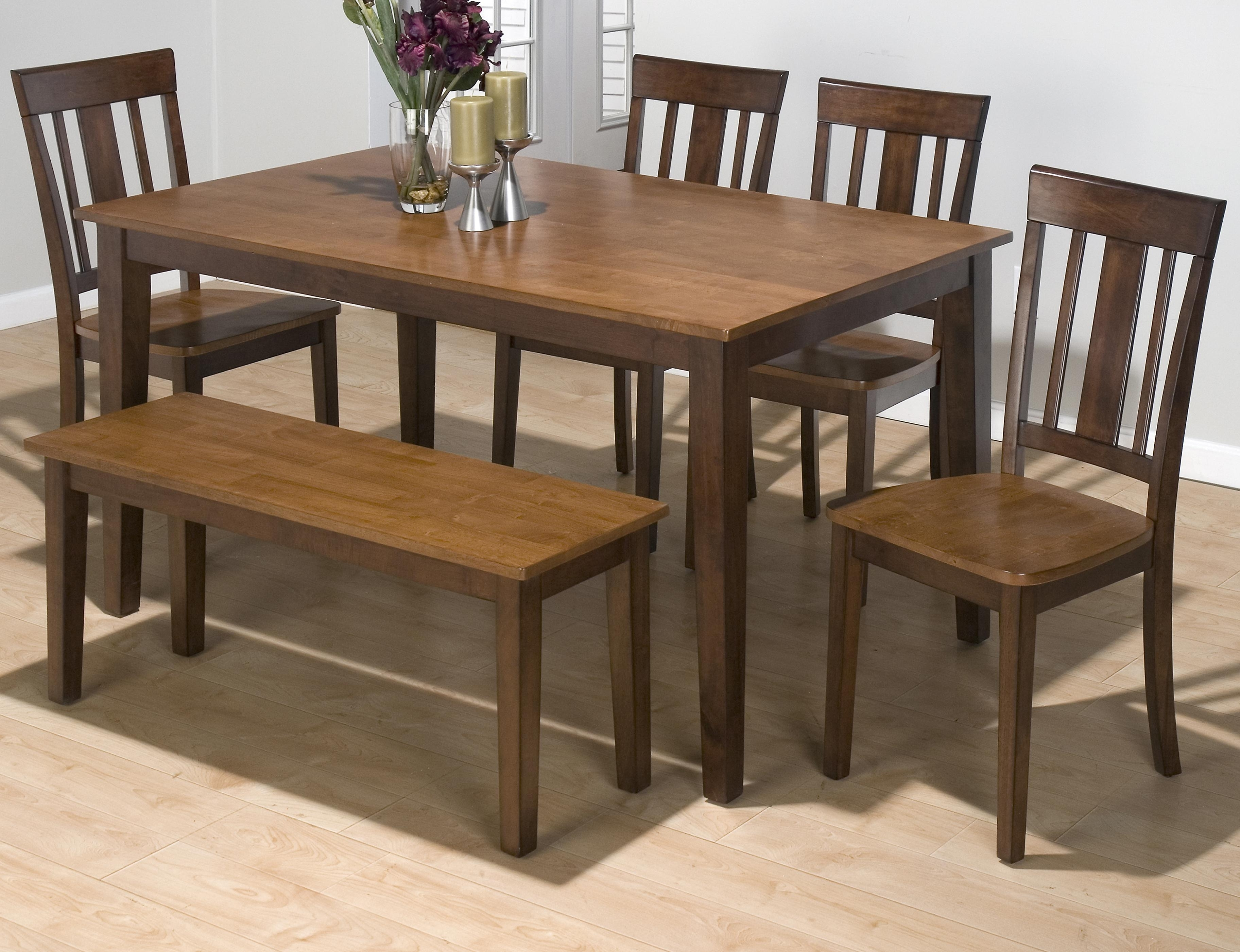 Most Current Lindy Espresso Rectangle Dining Tables For Jofran Kura Espresso And Canyon Gold Solid Rubberwood Rectangle (View 2 of 25)