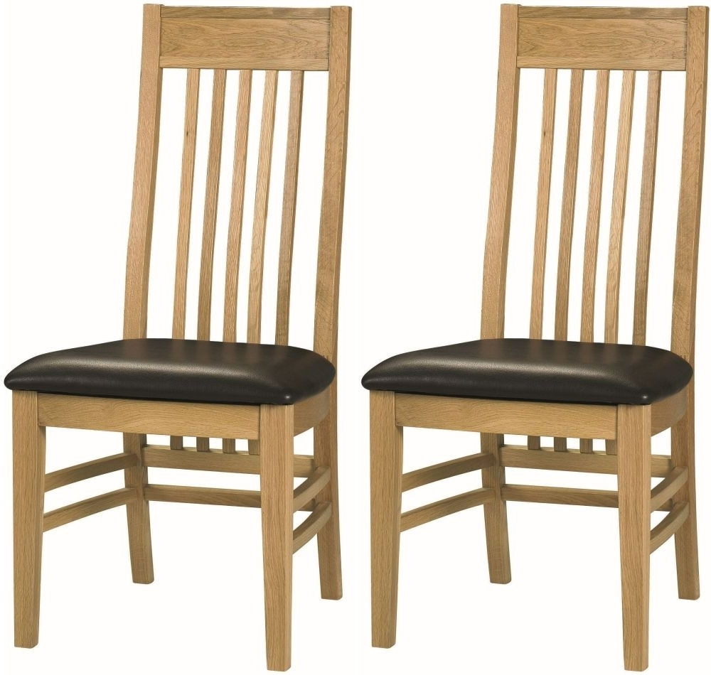 Most Current Oak Dining Chairs Regarding Buy Bentley Designs Turner Oak Slatted Dining Chair (Pair) Online (View 14 of 25)