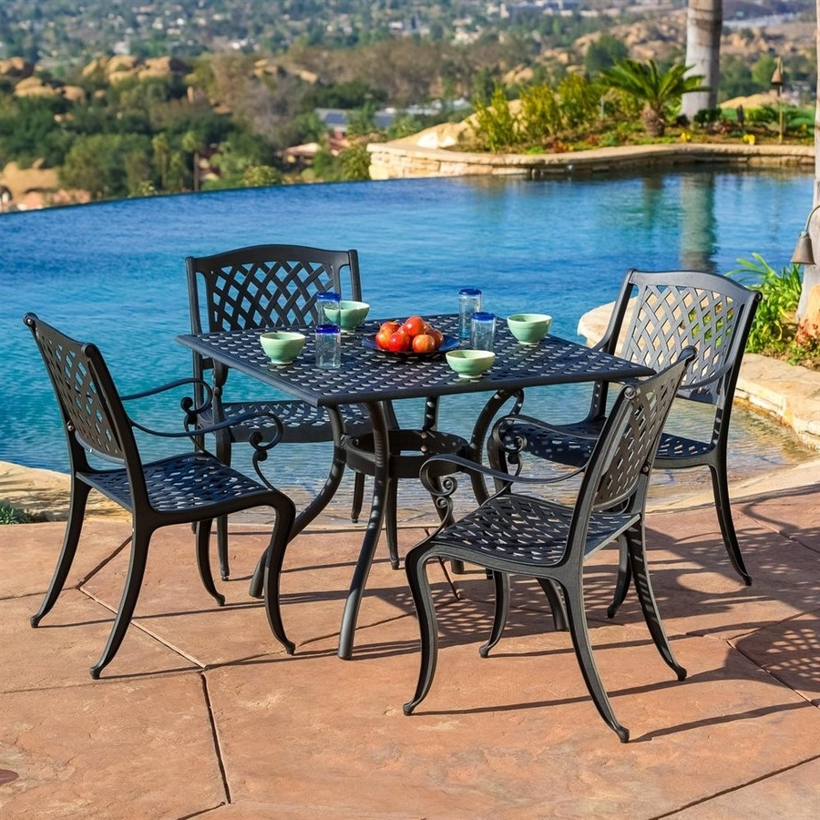 Most Current Outdoor Dining Table And Chairs Sets Throughout Shop Patio Dining Sets At Lowes (View 9 of 25)