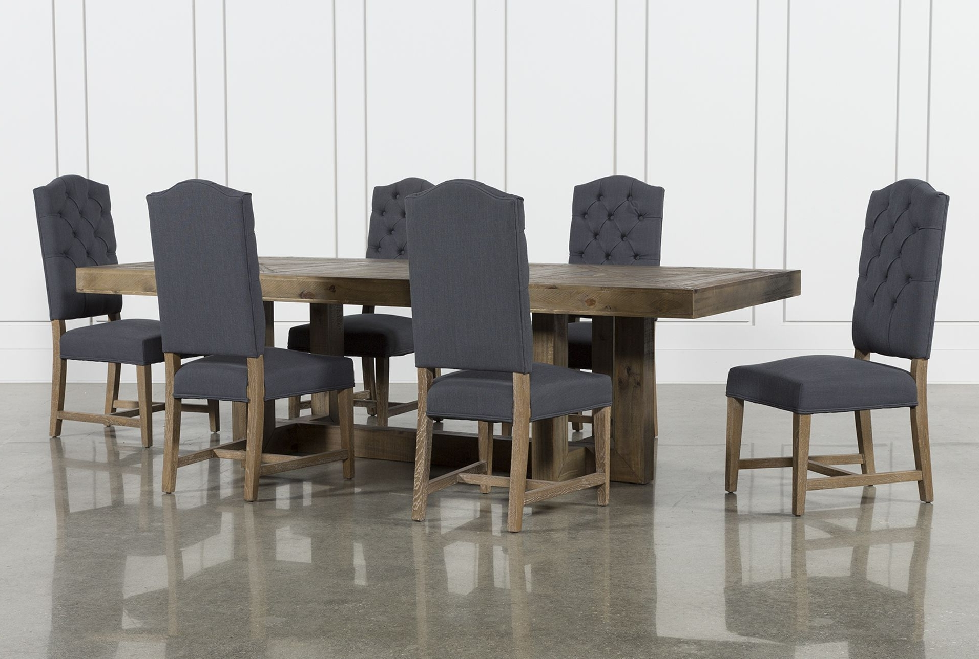Most Current Palazzo 7 Piece Rectangle Dining Set With Joss Side Chairs Regarding Jaxon Grey 7 Piece Rectangle Extension Dining Sets With Uph Chairs (View 5 of 25)