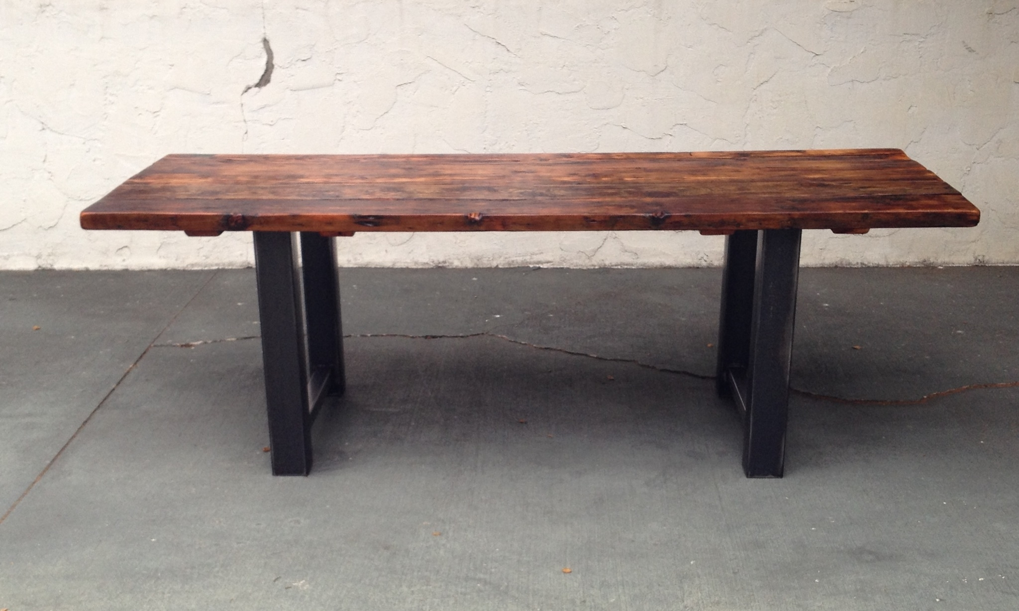 Most Current Reclaimed Wood And Steel Dining Table (View 10 of 25)