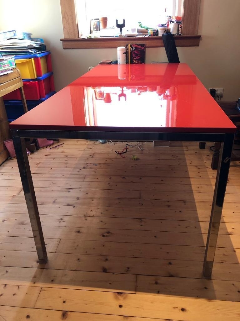 Most Current Red Gloss Dining Tables For Ikea – Gloss Red Dining Table – 180Cm X 85 X (View 3 of 25)