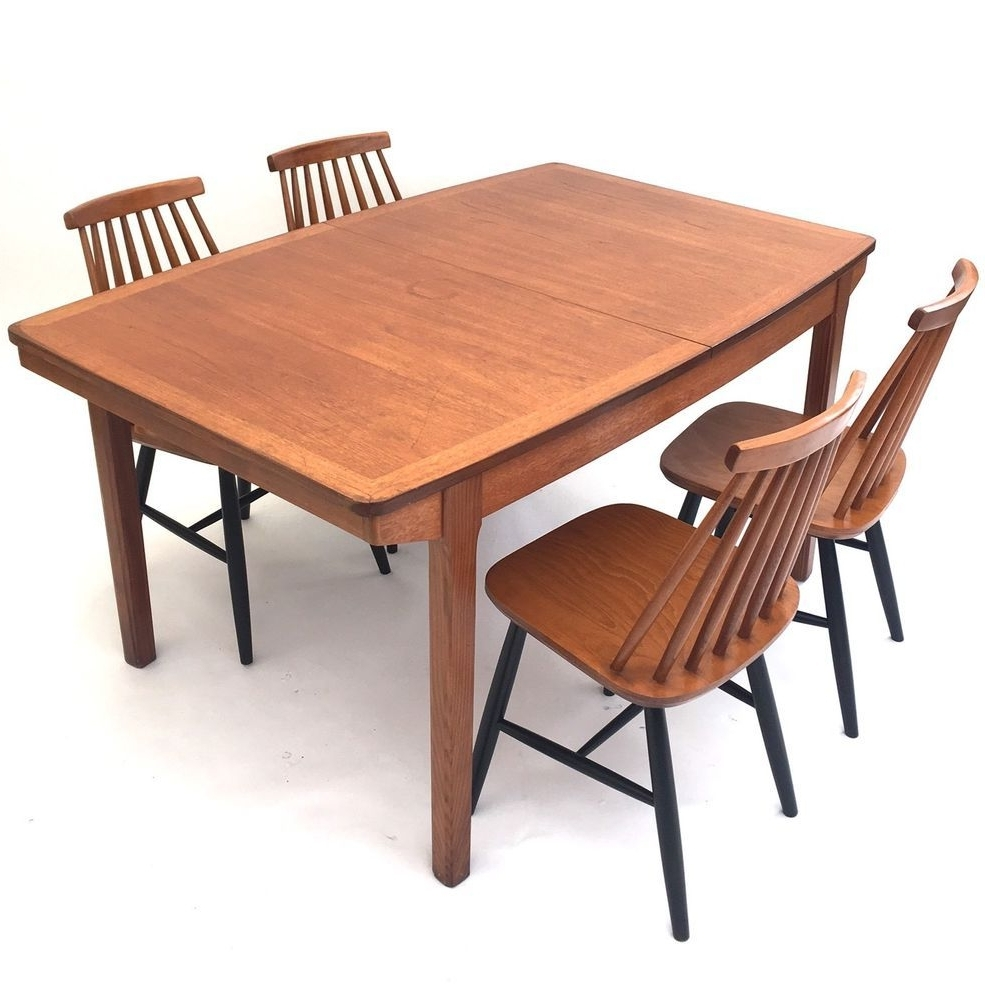 Most Current Retro Extending Dining Tables In Vintage Retro Danish Mid Century 1960S Solid Teak Double Extending (View 9 of 25)