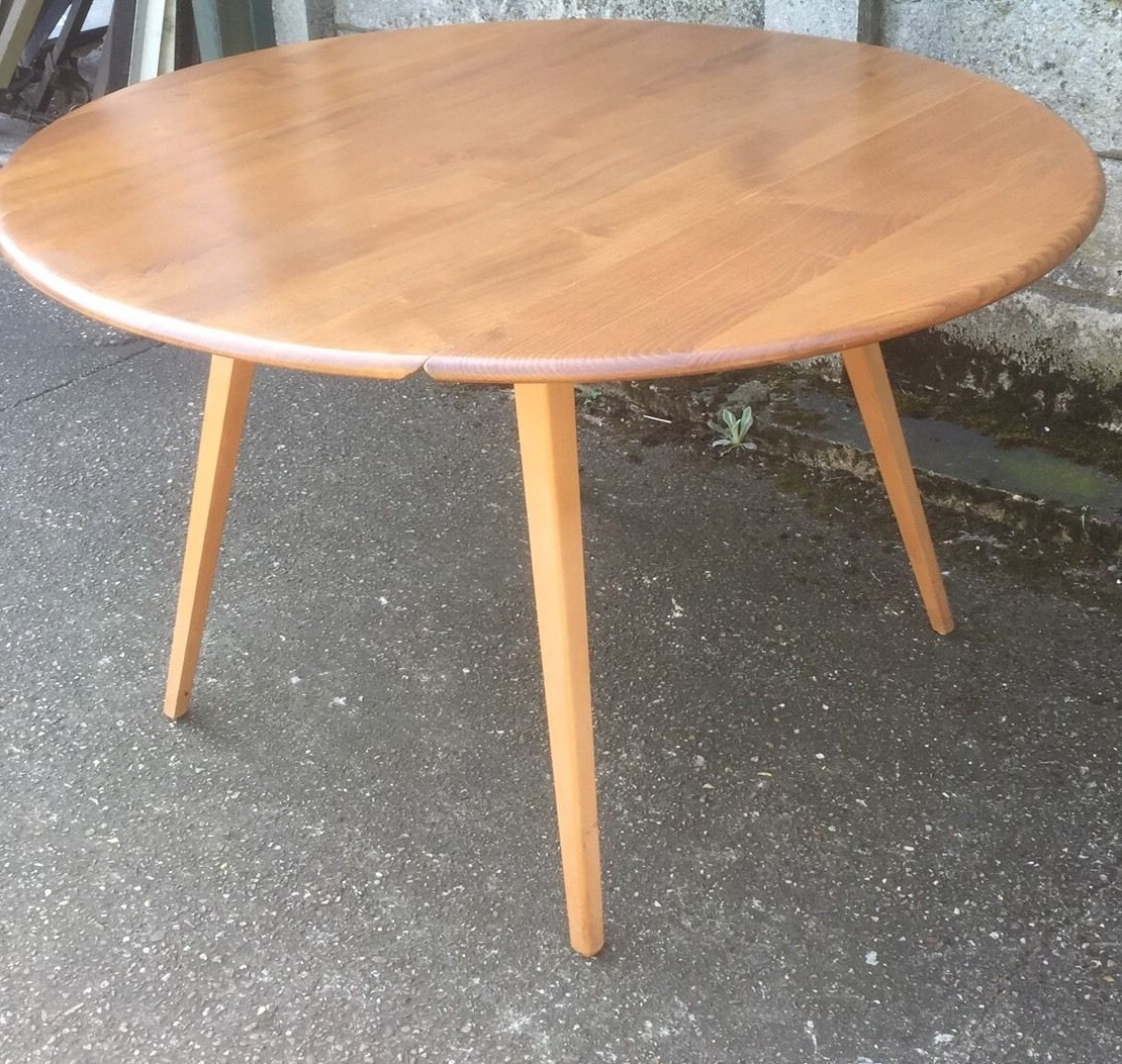 Most Current Retro Extending Dining Tables Inside Superb Retro Ercol Extending Dining Table Very Clean – Delivery (View 10 of 25)