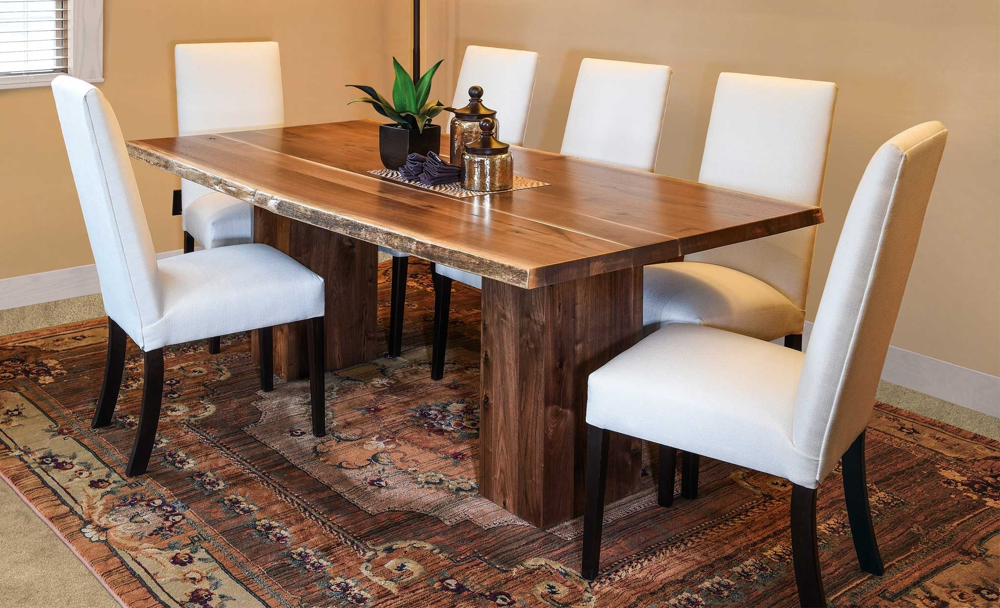 Most Current Rio Dining Tables Inside Rio Vista Live Edge Trestle Table – Amish Direct Furniture (View 13 of 25)