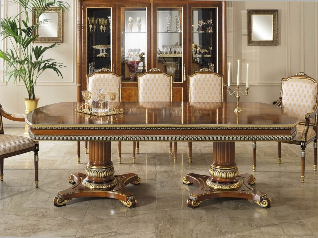 Most Current Royal Dining Tables Inside Royal Italian Collection – Infinity Furniture (View 14 of 25)