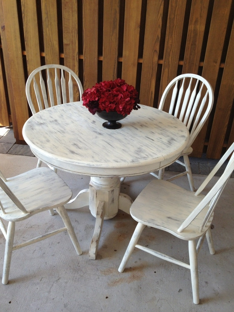 Most Current Shabby Chic Dining Sets Pertaining To More Luxury Shabby Chic Dining Table For  (View 24 of 25)