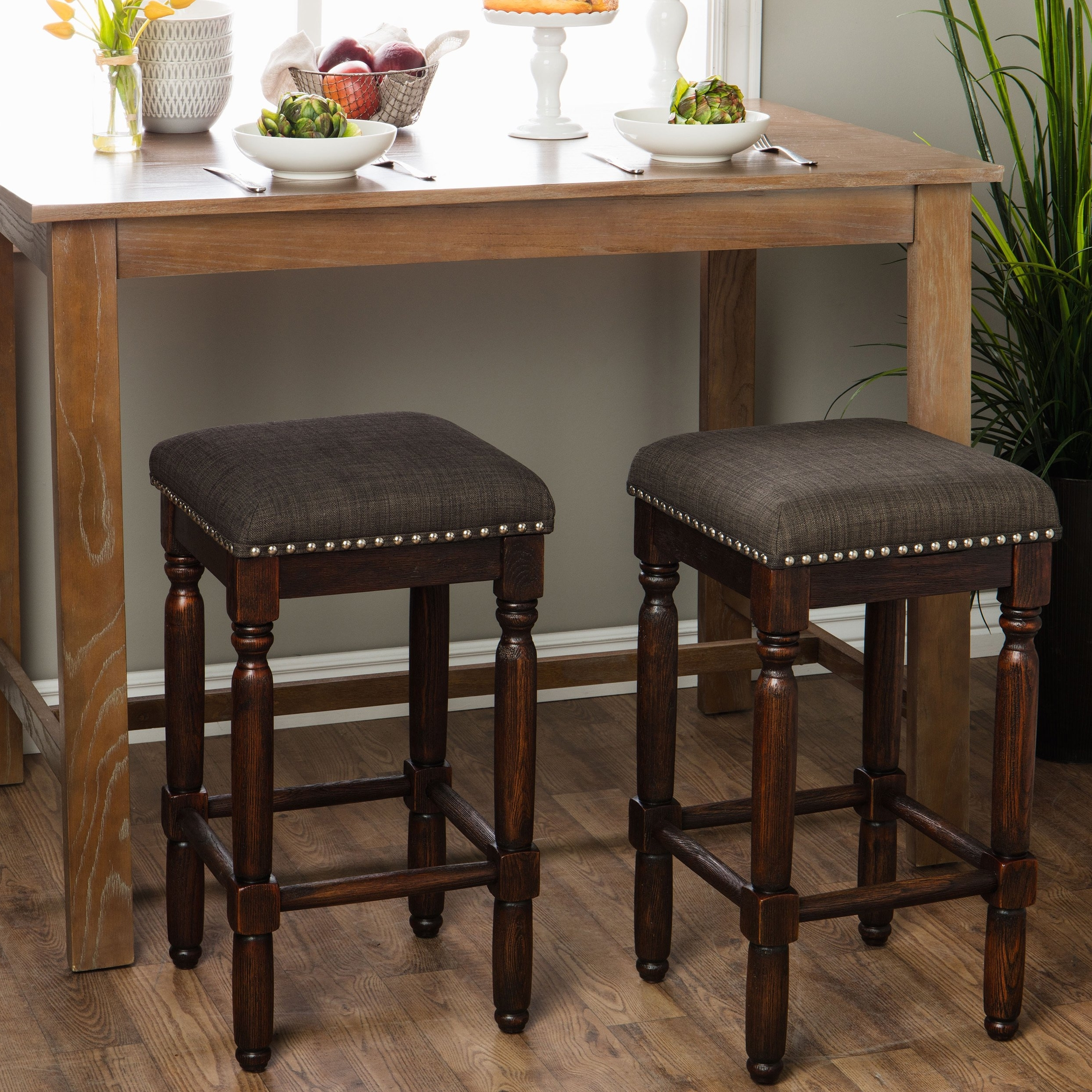 Most Current Shop Carbon Loft Branson Coffee Counter Stools (Set Of 2) – Free For Laurent 7 Piece Counter Sets With Wood Counterstools (View 10 of 25)