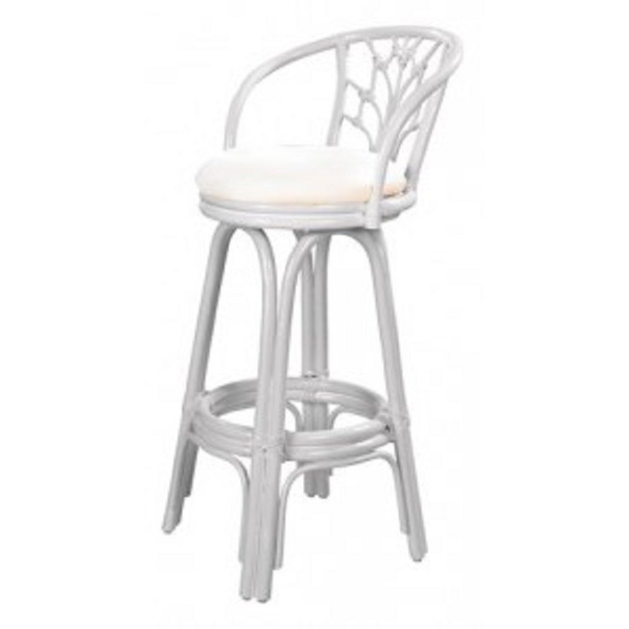 Most Current Shop Valencia Indoor Swivel Rattan And Wicker Whitewash 24 Inch With Regard To Valencia 4 Piece Counter Sets With Bench & Counterstool (View 5 of 25)