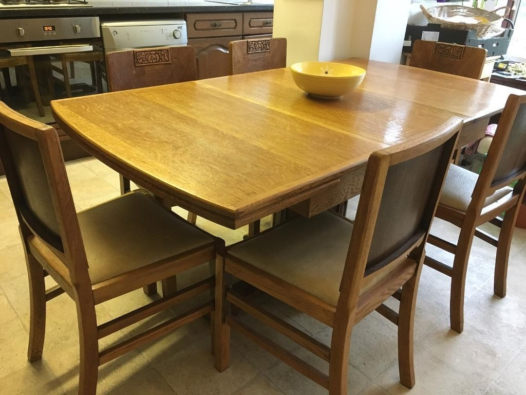 Most Current Smartie Dining Tables And Chairs Within Solid Wood, Varnished Farmhouse Extendable Dining Table With  (View 7 of 25)