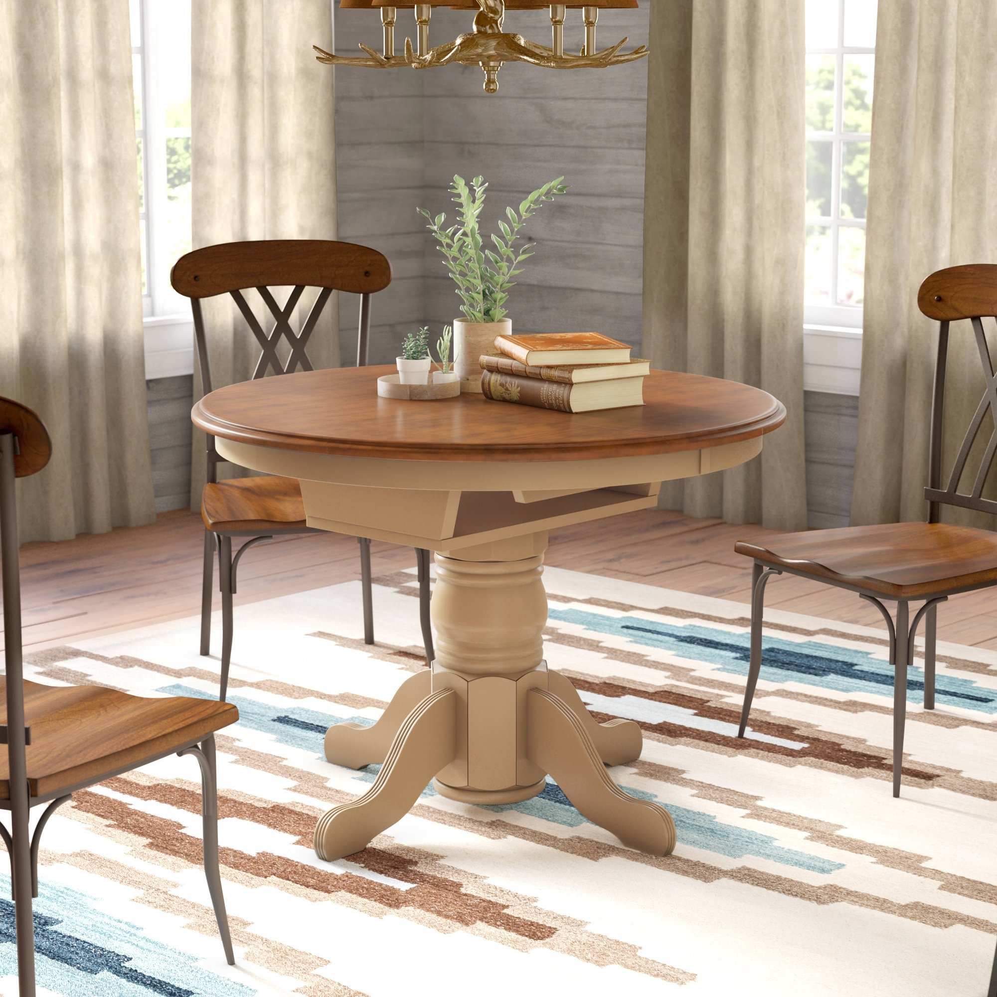 Most Current Solid Wood Dining Tables Inside Agrihan Extendable Solid Wood Dining Table (View 4 of 25)
