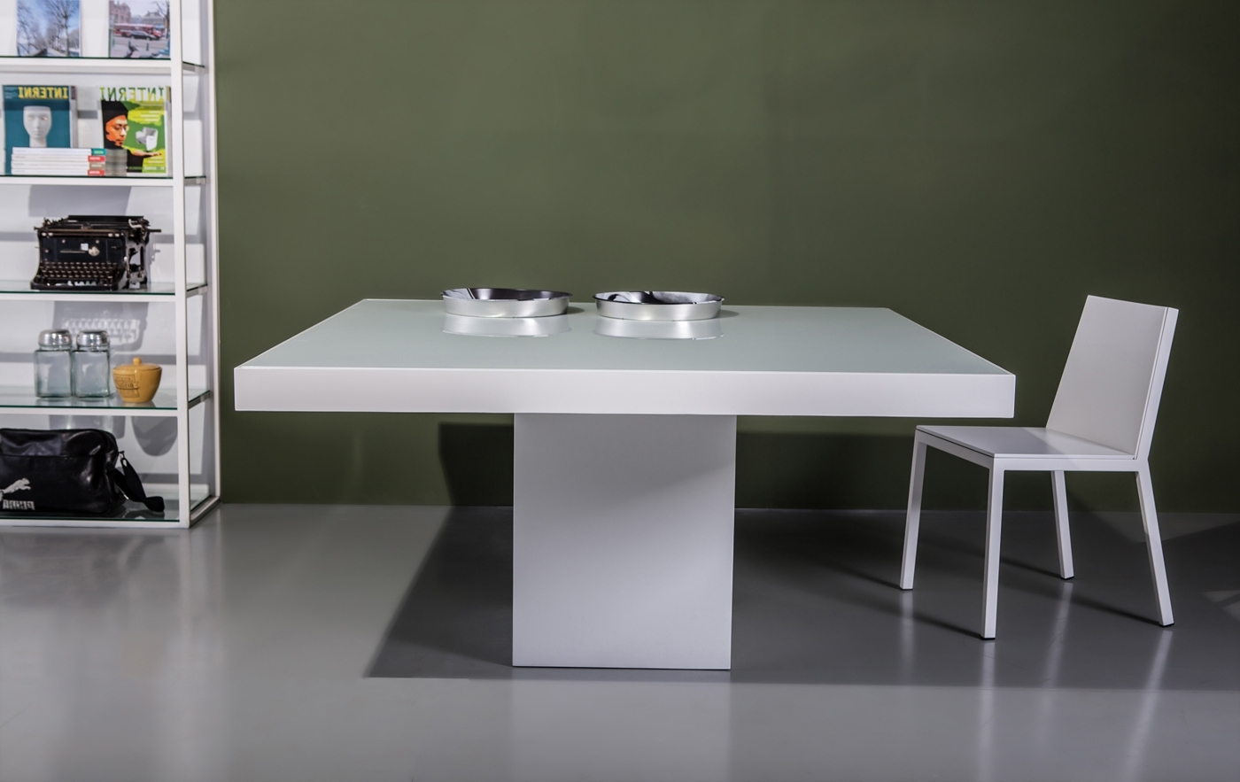 Most Current Square Dining Tables Regarding Beech Dining Tablemodloft (View 19 of 25)