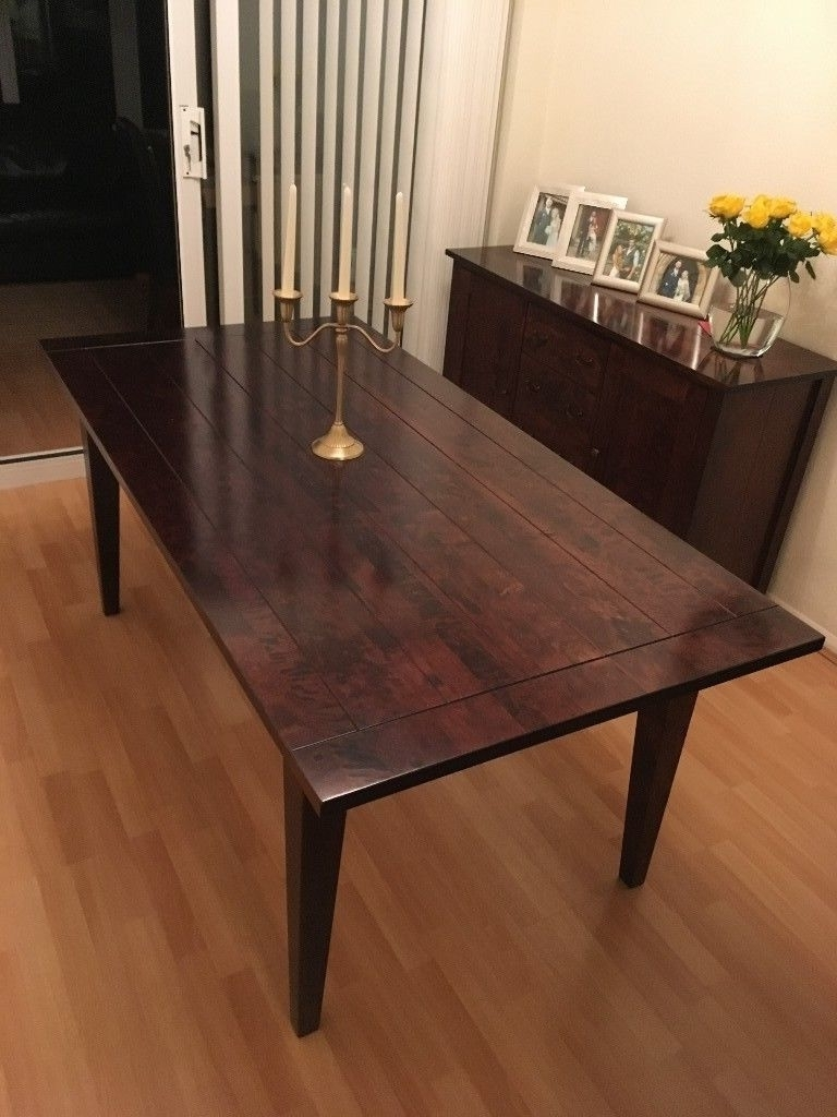 Most Current Toscana Dining Tables For Solid Birch Dining Table With Dark Stain And Lacquered Finish (Next (View 21 of 25)