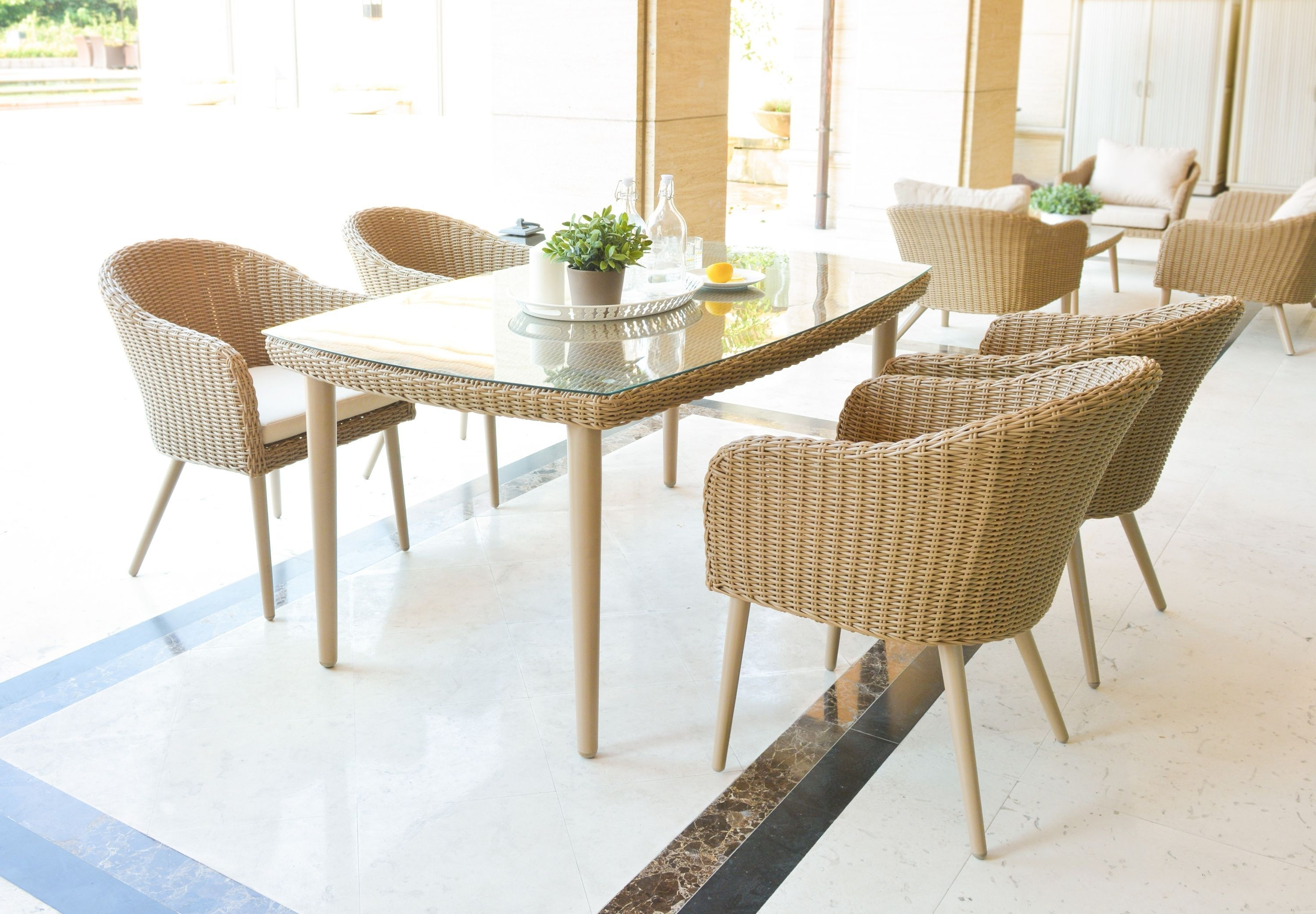 Most Current Valencia 6 Seater Rectangular Dining Set With 160 X 100Cm Table In A Intended For Valencia 60 Inch Round Dining Tables (View 14 of 25)