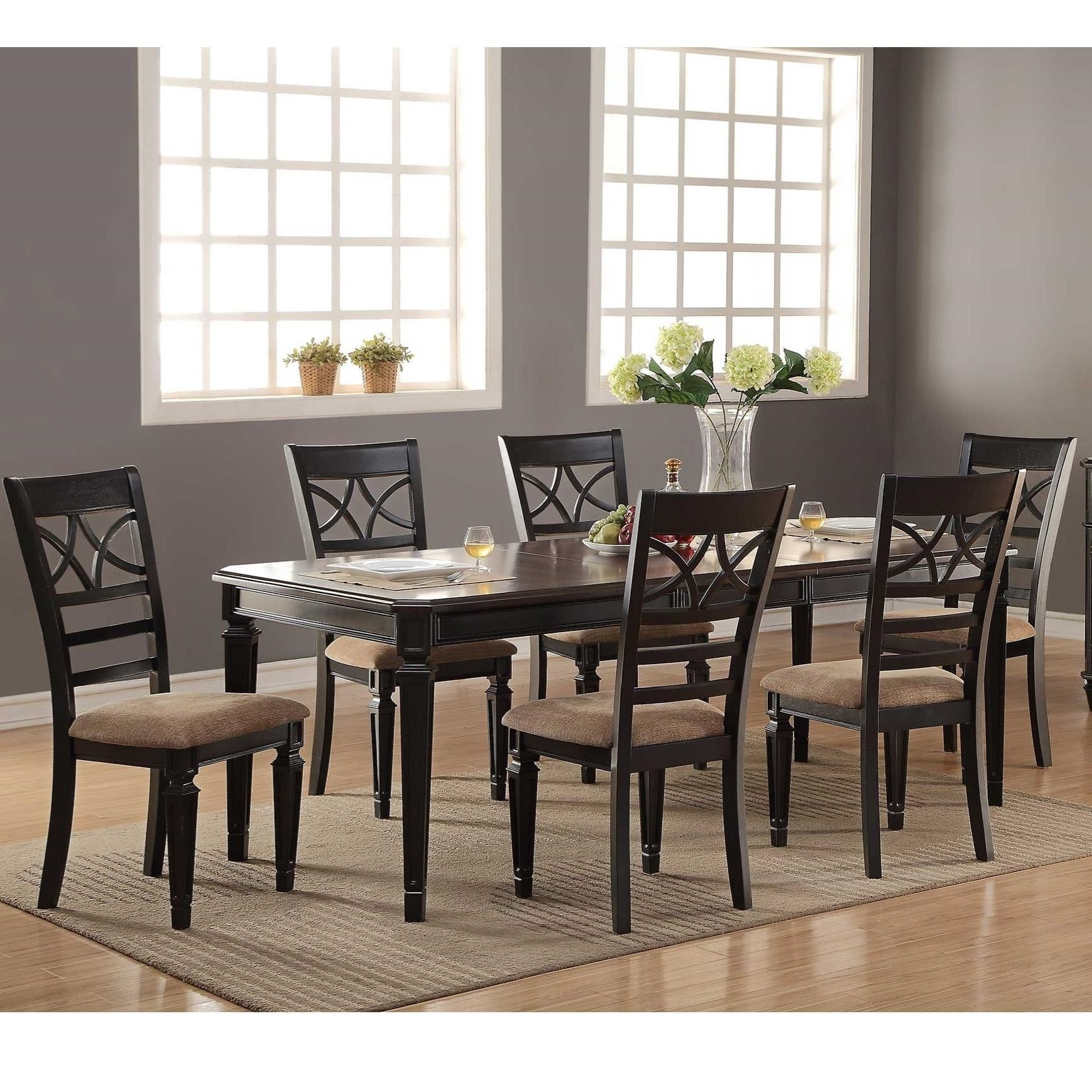 Most Current Winners Only Arlington 7 Piece Dining Set With X Back Chairs In Parquet 7 Piece Dining Sets (Gallery 7 of 25)