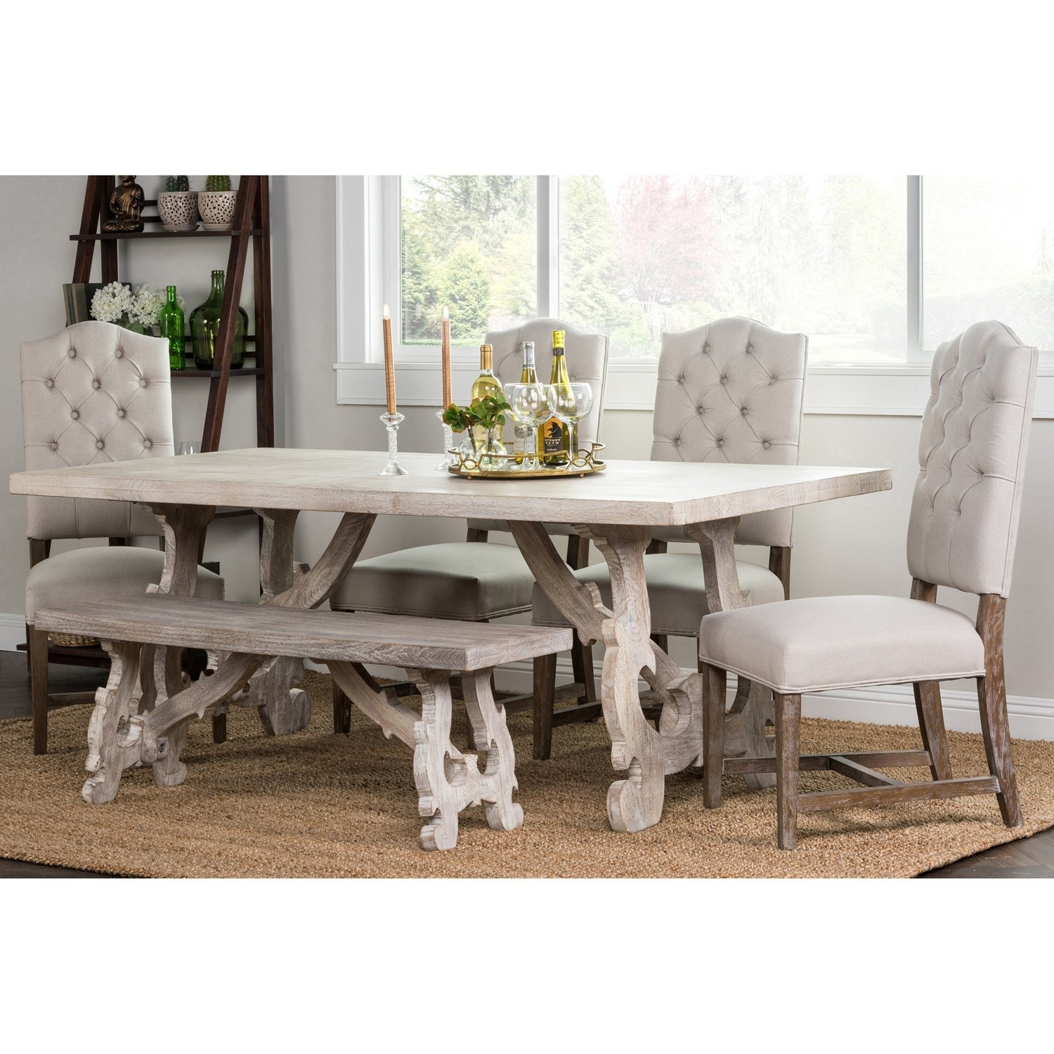 Most Popular 87 Inch Dining Tables Within Shop Elliott Rustic Hand Crafted 76 Inch Dining Tablekosas Home (View 16 of 25)