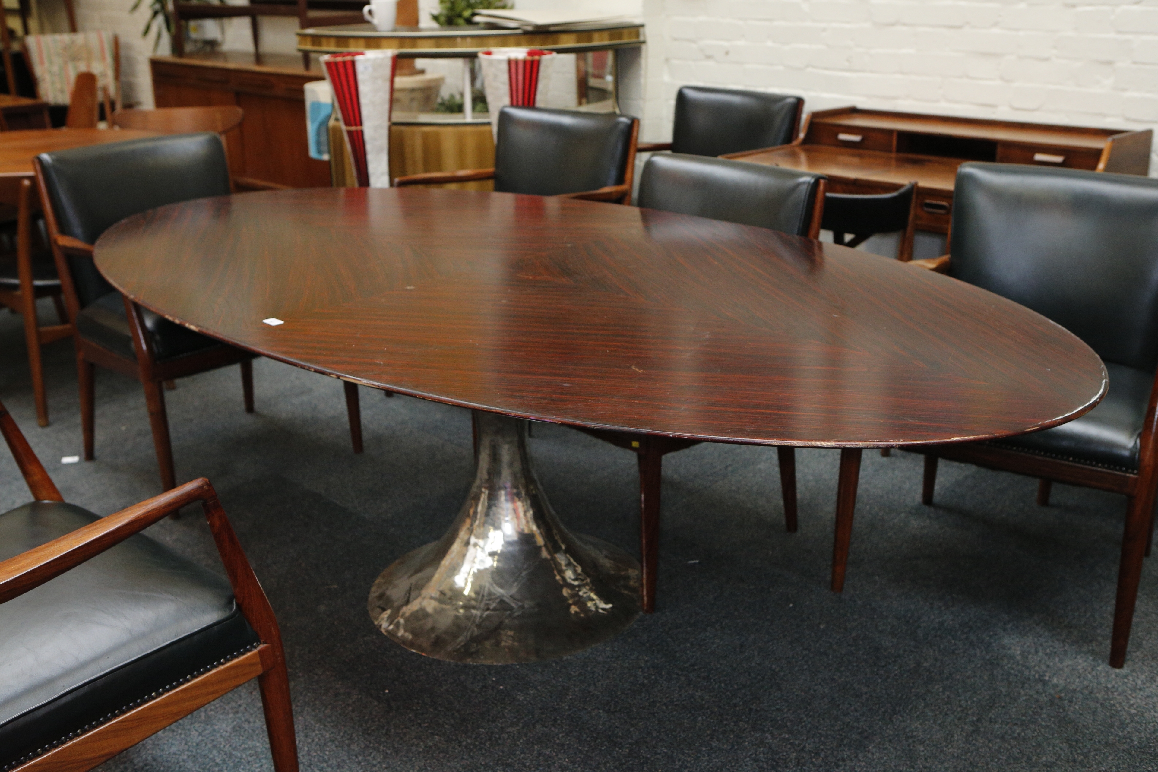 Most Popular A Julian Chichester Dakota Dining Table, 21St Century, Elliptical Inside Chichester Dining Tables (View 22 of 25)