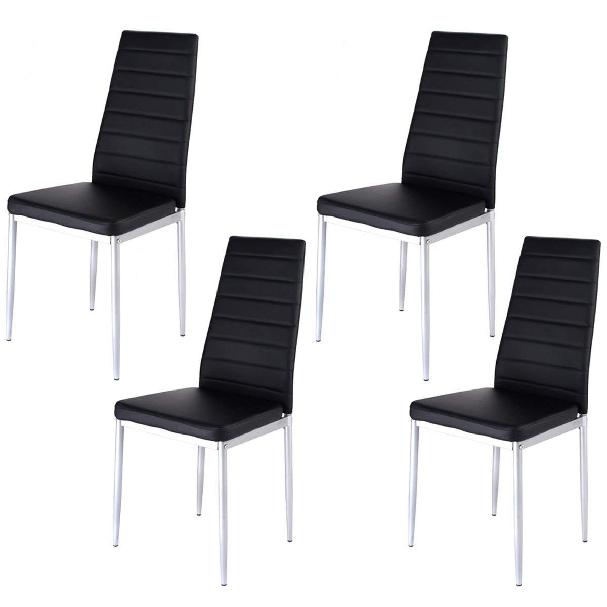 Most Popular Alcora Dining Chairs For Amazon – Giantex Set Of 4 Pu Leather Dining Side Chairs Elegant (View 22 of 25)