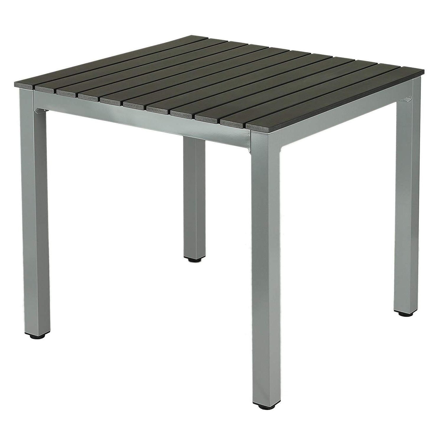 Most Popular Amazon : Jaxon Aluminum Outdoor Table In Poly Wood, Silver/slate With Jaxon 6 Piece Rectangle Dining Sets With Bench & Wood Chairs (View 15 of 25)