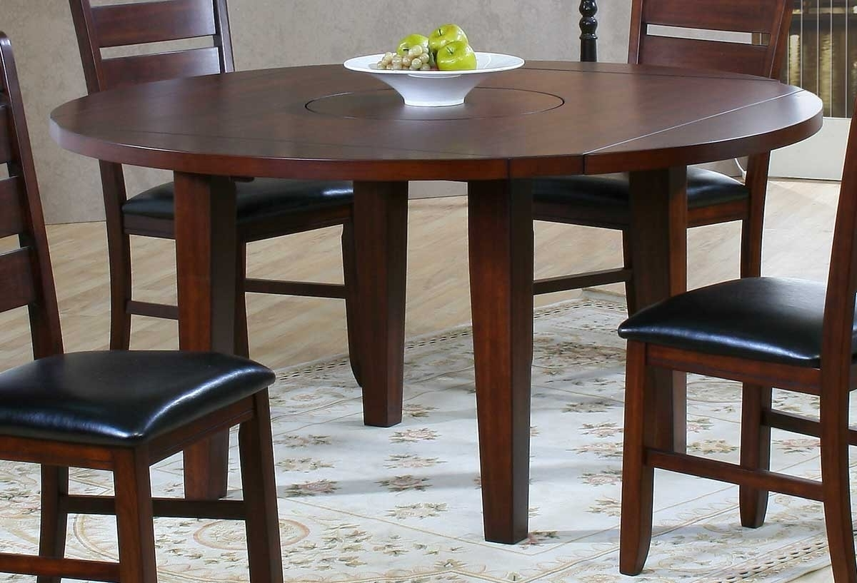 Most Popular Ameillia Dark Oak Round Dining Table For $ (View 14 of 25)