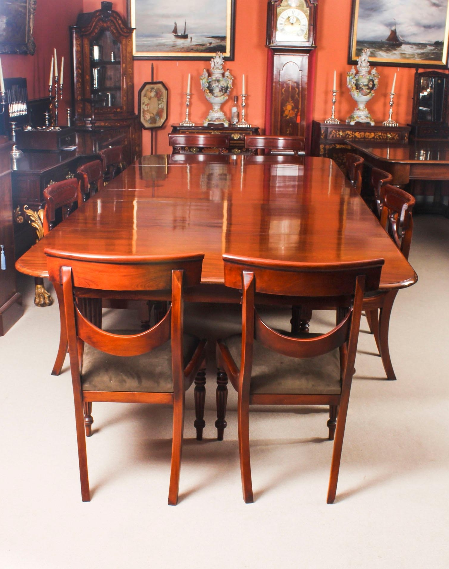 Most Popular Antique Flame Mahogany Extending Dining Table 19Th Century And 10 In Mahogany Extending Dining Tables And Chairs (Gallery 11 of 25)
