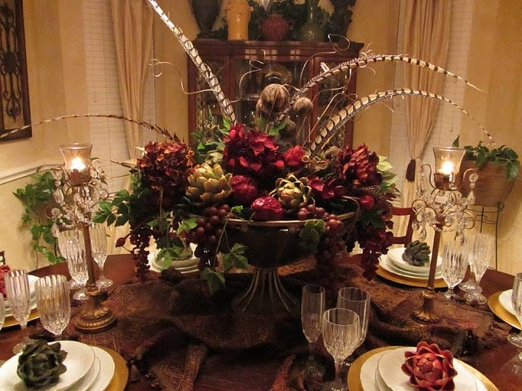 Most Popular Artificial Floral Arrangements For Dining Tables Pertaining To Flower Arrangements For Dining Room Table Lovely Artificial Flower (View 23 of 25)