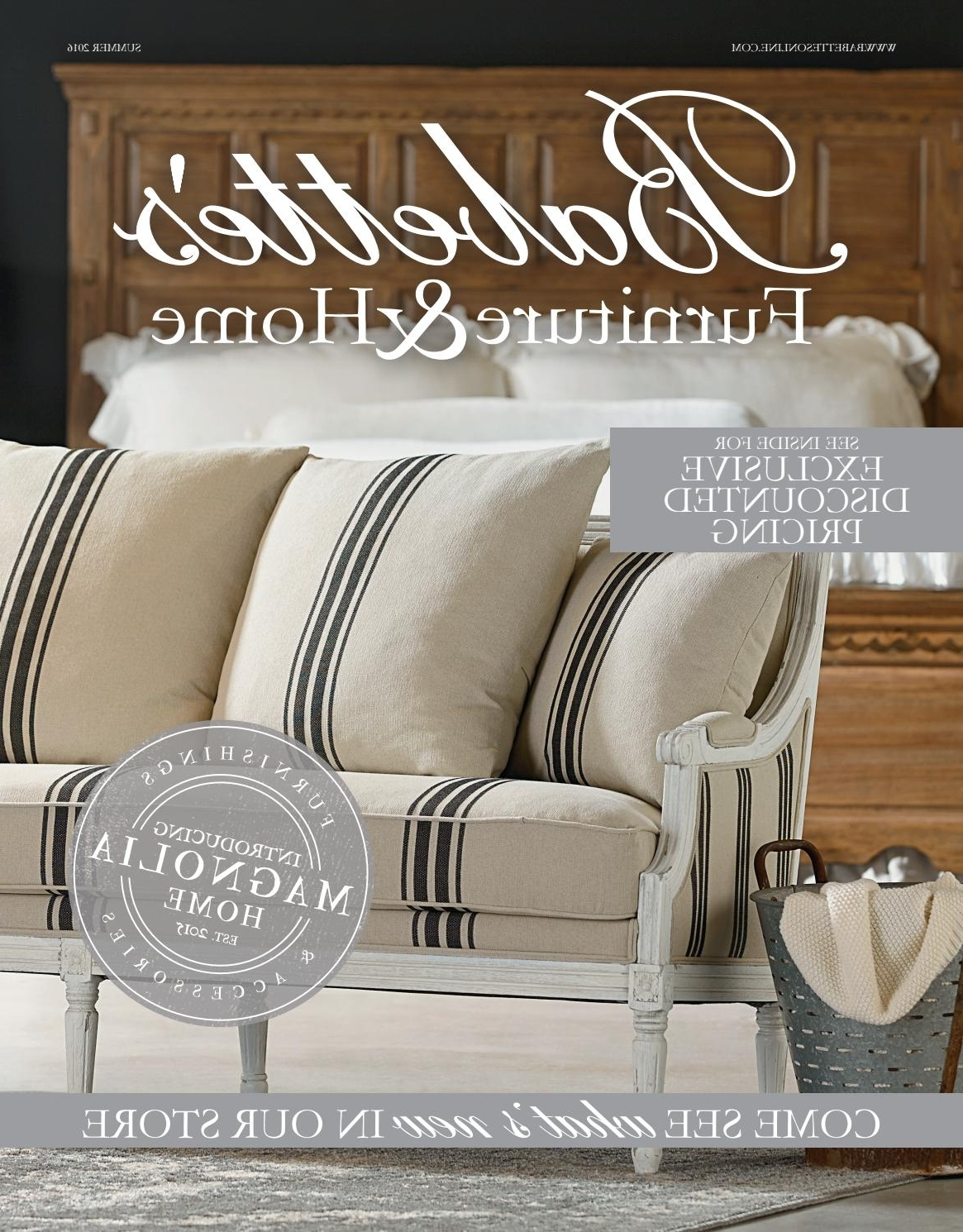 Most Popular Babette's Catalog – Summer 2016Babette's Furniture & Home – Issuu Inside Magnolia Home Taper Turned Bench Gathering Tables With Zinc Top (View 10 of 25)