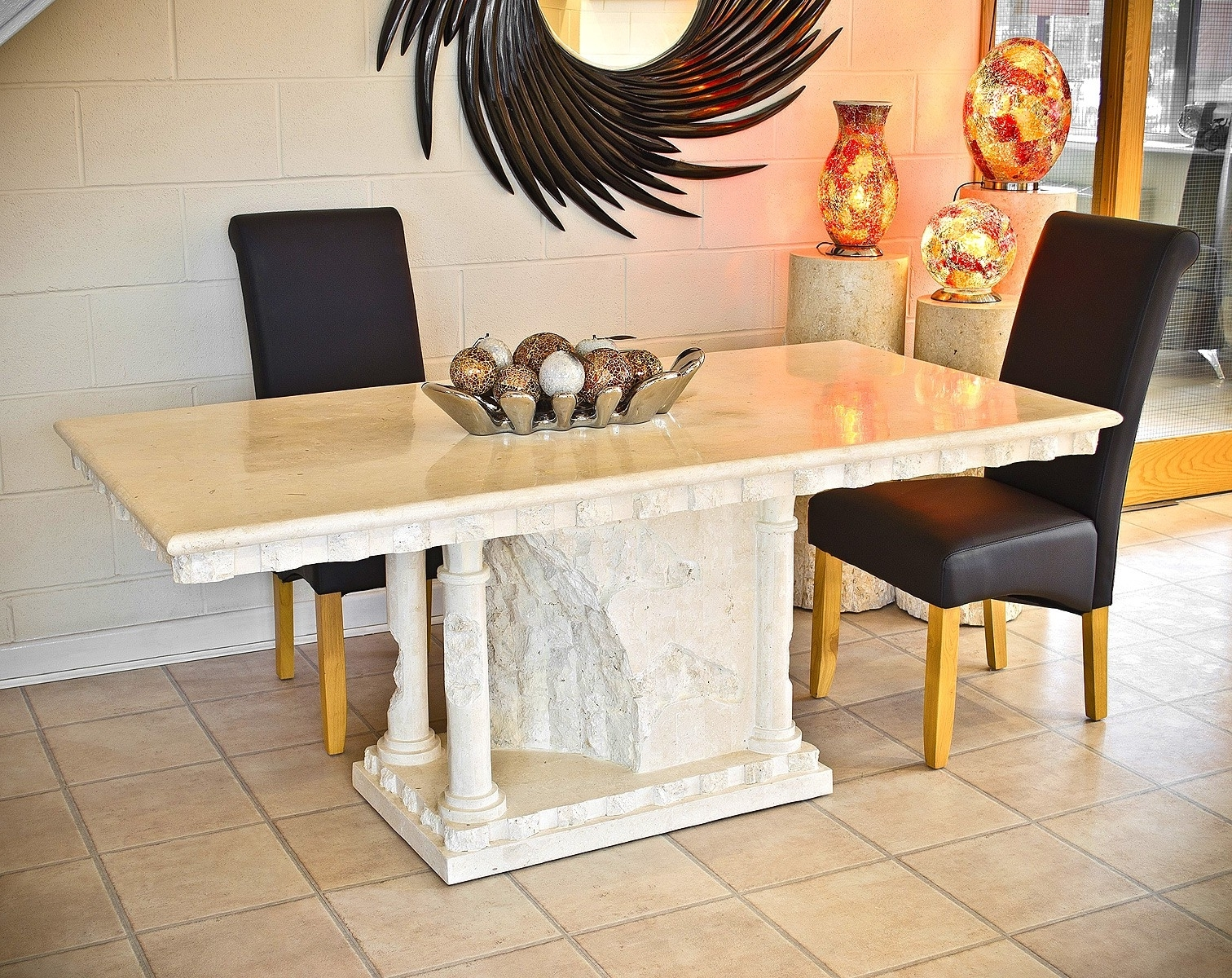 Most Popular Bellagio Mactan Dining Table – Mactan Stone Furniture – Be Fabulous! For Bellagio Dining Tables (View 8 of 25)