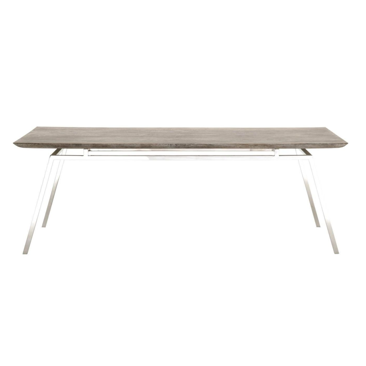 Most Popular Benson Rectangle Dining Tables With Regard To Benson Dining Table Sand Wash Oak, Stainless Steel (View 2 of 25)