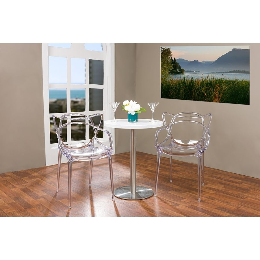 Most Popular Charming Clear Acrylic Dining Table And Chairs Furniture Black Pertaining To Clear Plastic Dining Tables (View 17 of 25)