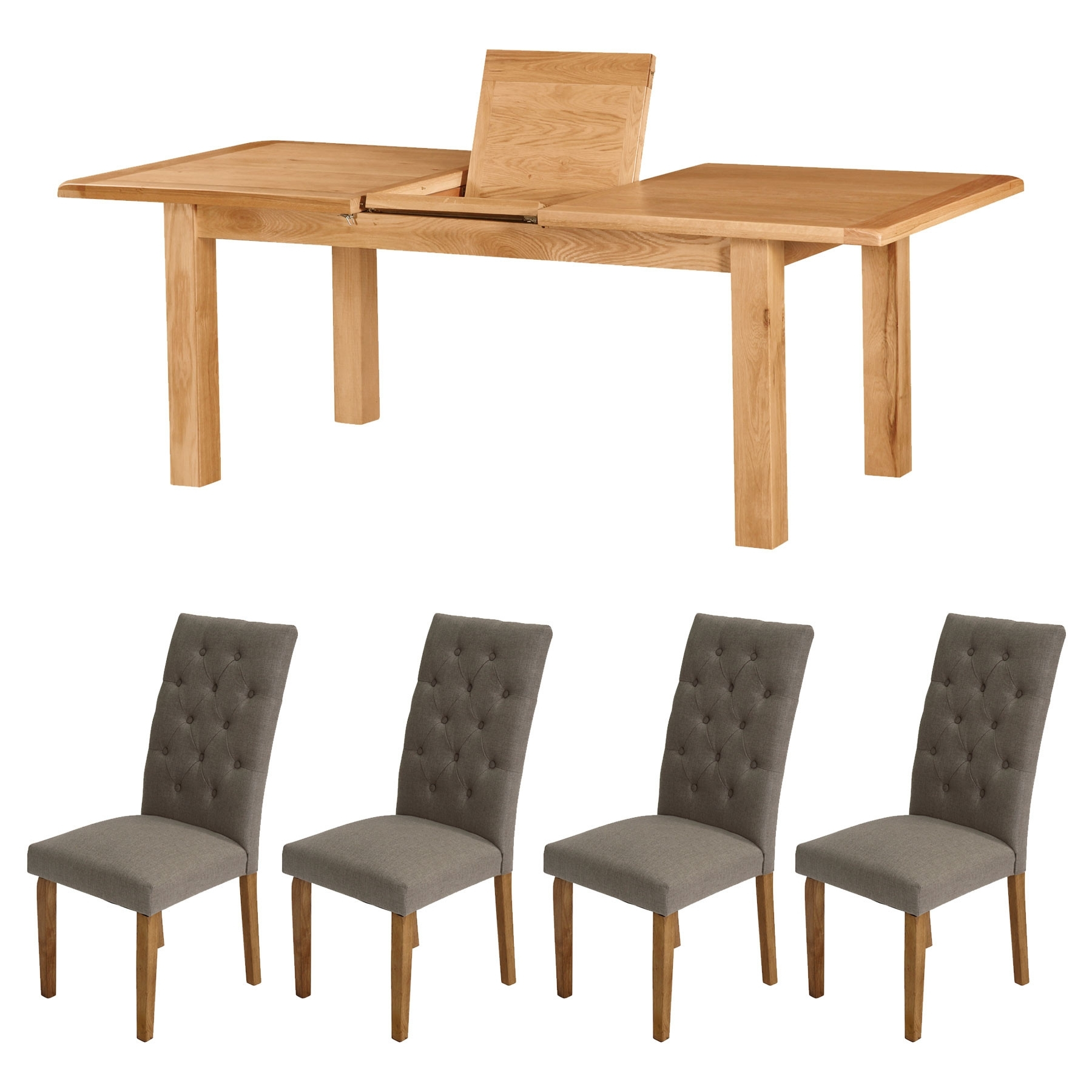 Most Popular Compact Dining Tables For Dublin Compact Extending Dining Table & 4 Pumice Rivoli Dining Chairs (View 9 of 25)