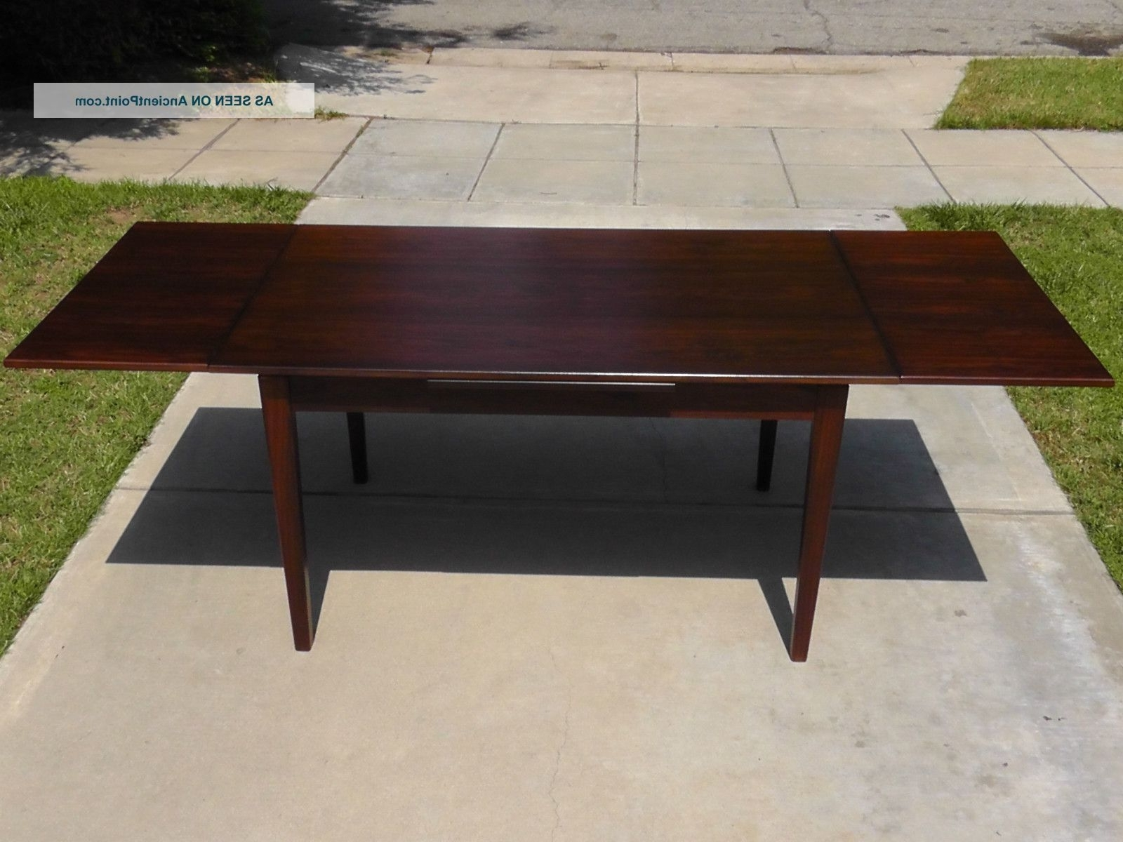 Most Popular Dark Wood Extending Dining Tables Pertaining To Dining Table: Terrific Design Ideas Using Rectangular Dark Brown (View 11 of 25)