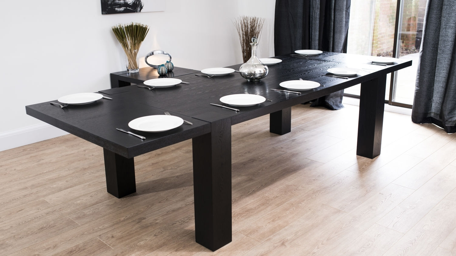 Most Popular Dining: Black Extendable Dining Table In Black Extending Dining Tables (Gallery 6 of 25)