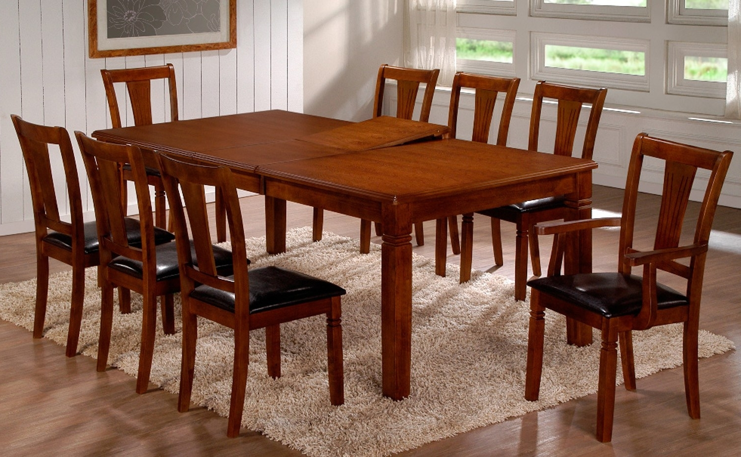 Most Popular Dining Table Set For 8 – Castrophotos Within Black 8 Seater Dining Tables (View 25 of 25)