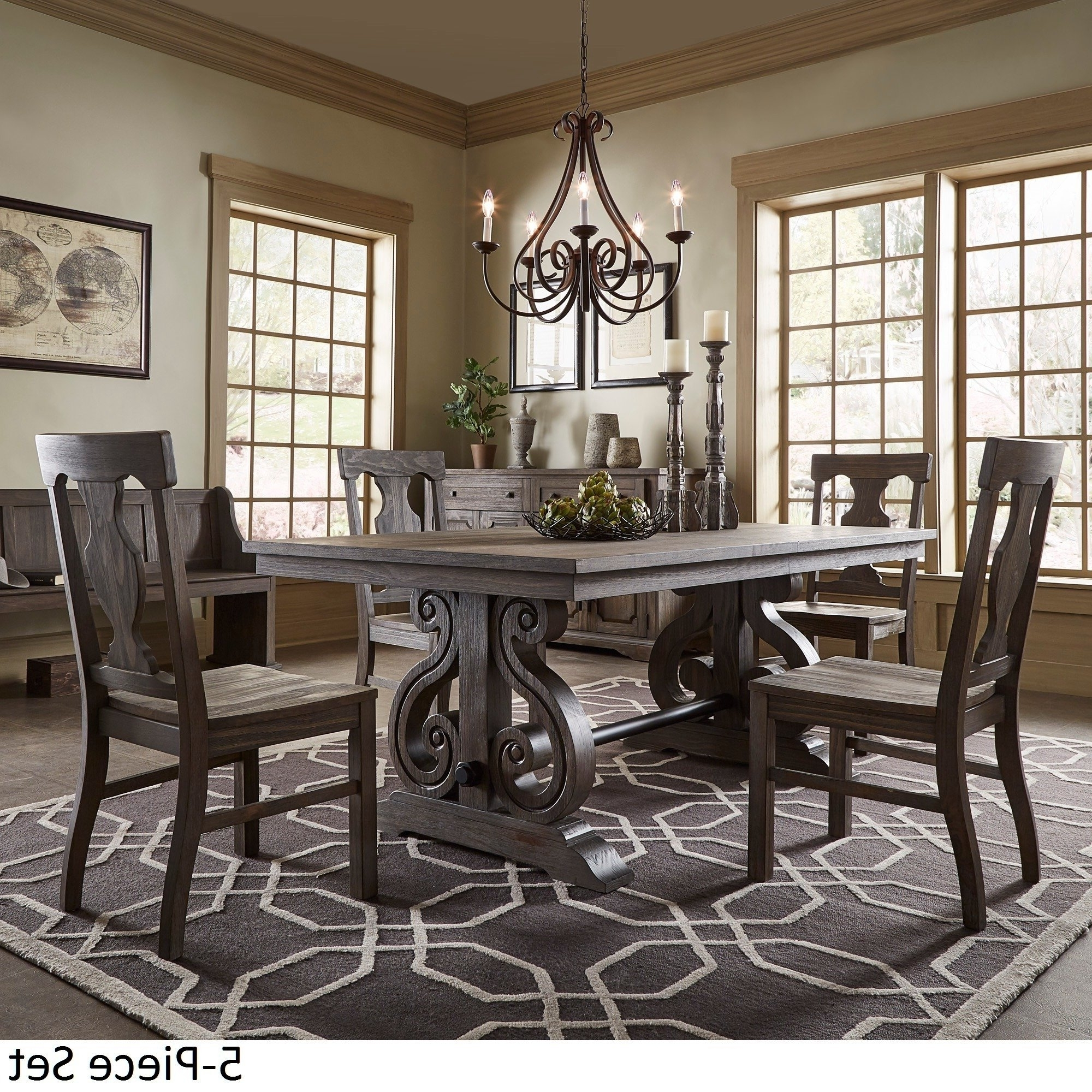 Most Popular Extendable Dining Table Sets Intended For Shop Rowyn Wood Extendable Dining Table Setinspire Q Artisan (View 18 of 25)