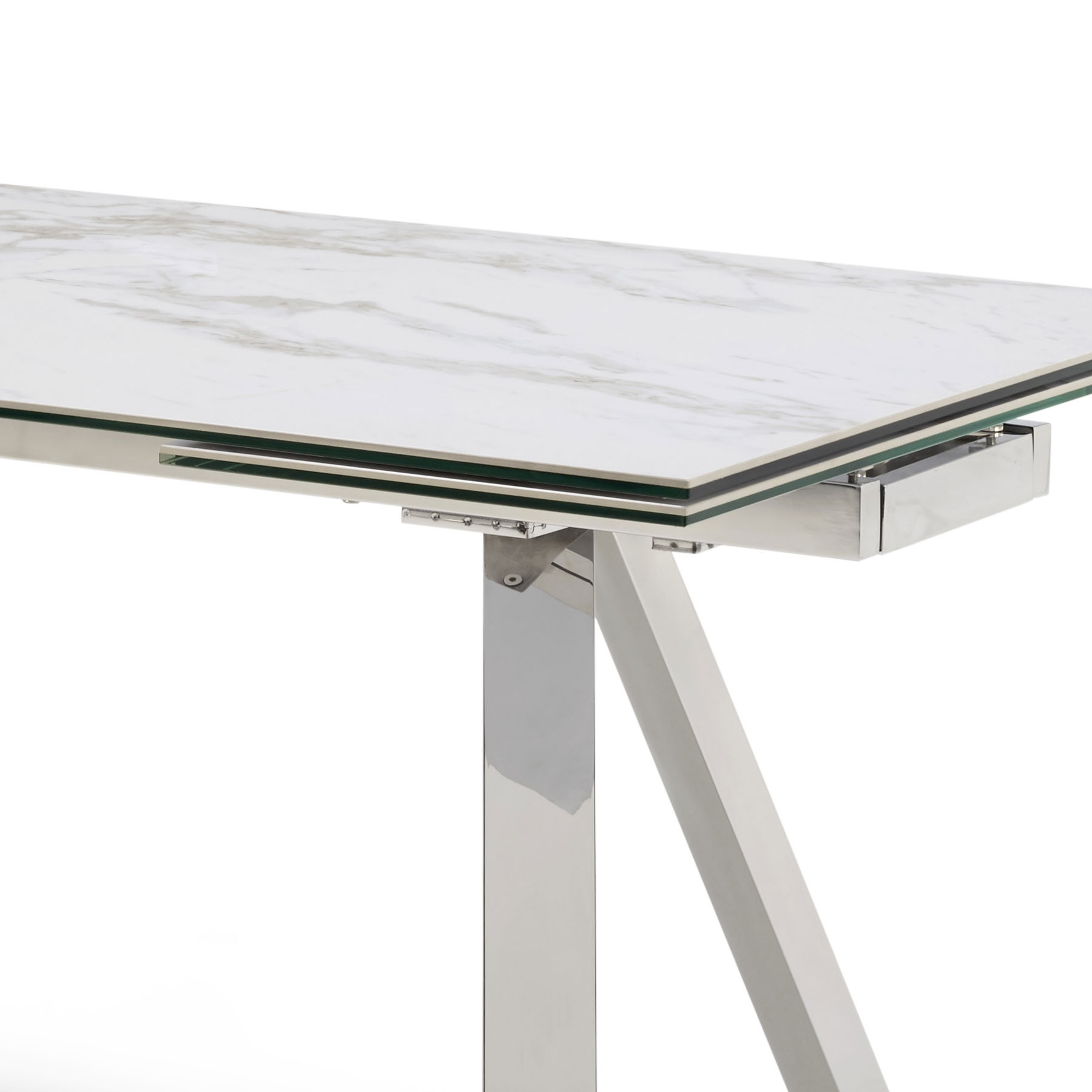Most Popular Extending Marble Dining Tables Pertaining To Ravenna Ceramic Marble Extending Dining Table & 6 Camber Grey Chairs (View 11 of 25)