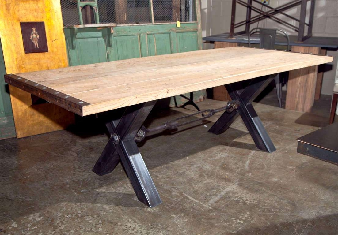 Most Popular Extraordinary Industrial Style Dining Table Wood Amusing Industrial Throughout Industrial Style Dining Tables (View 15 of 25)