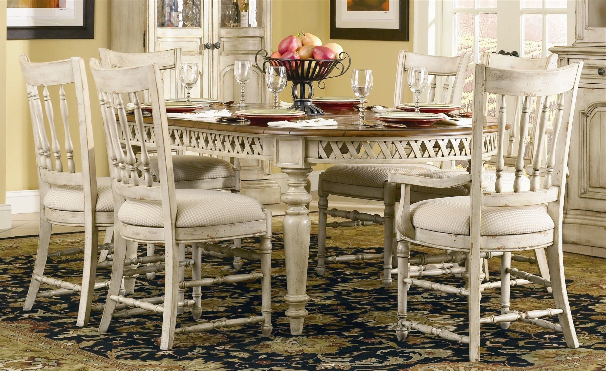 Most Popular French Country Dining Tables Within Best French Country Dining Room Table And Chairs (View 10 of 25)