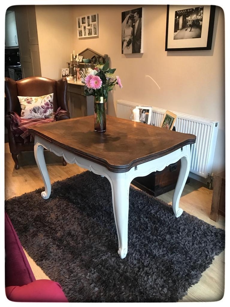 Most Popular French Extending Dining Tables Pertaining To Antique Annie Sloan Painted French Louis Xv Style Extending Dining (View 22 of 25)