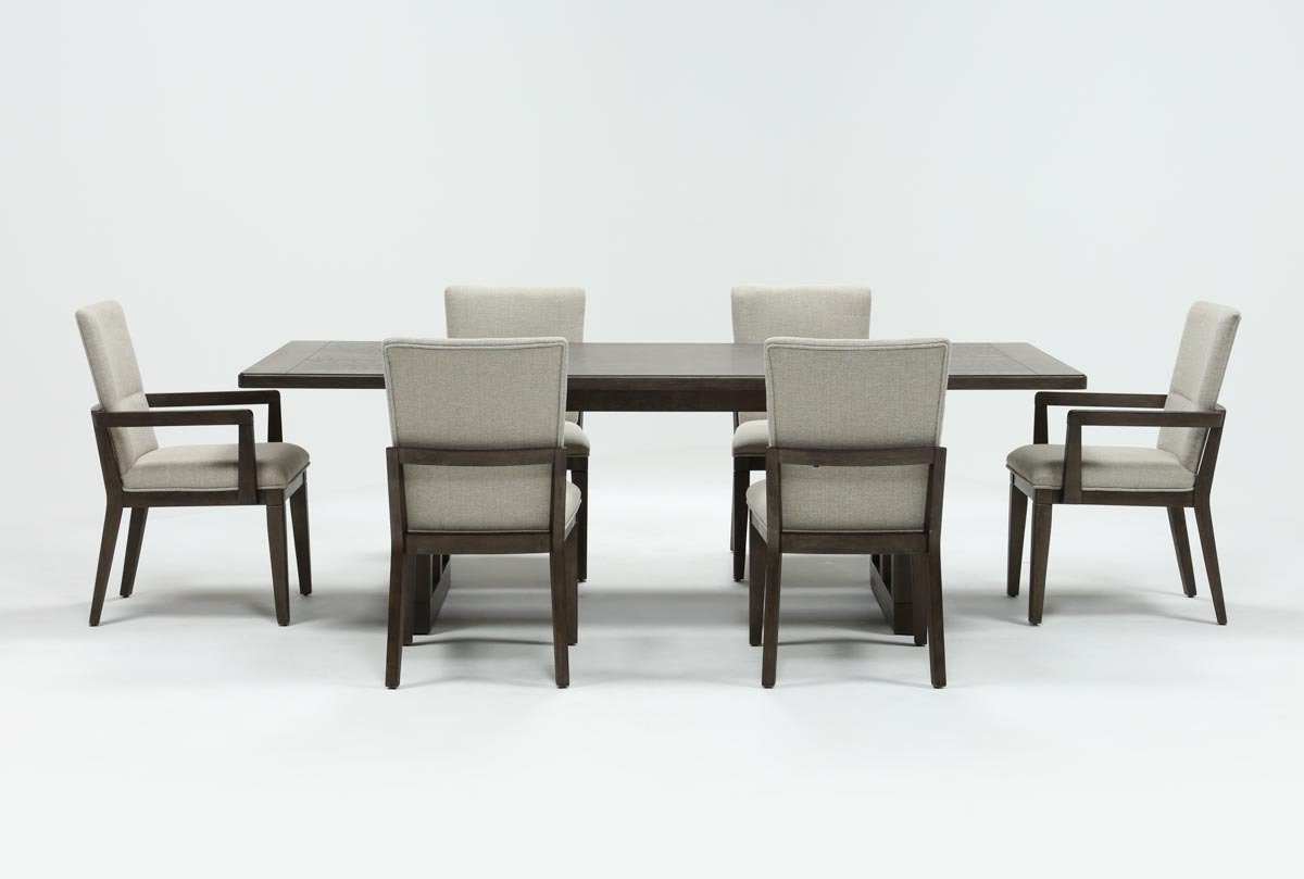 Featured Photo of Lassen 7 Piece Extension Rectangle Dining Sets