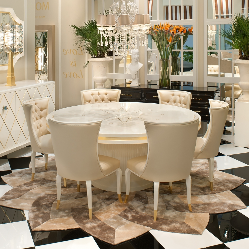 Most Popular High End Modern Cream And White Chair (View 5 of 25)