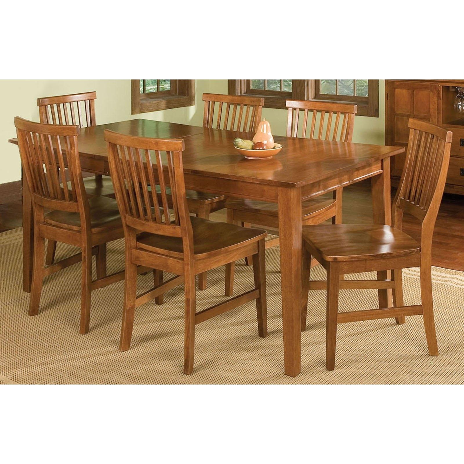 Most Popular Home Styles Arts & Crafts 7 Piece Dining Set, Cottage Oak – Walmart Regarding Oak Dining Tables Sets (View 10 of 25)